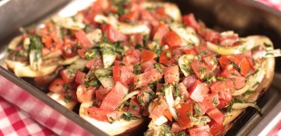 Imam Bayildi – gevulde aubergines in olijfolie