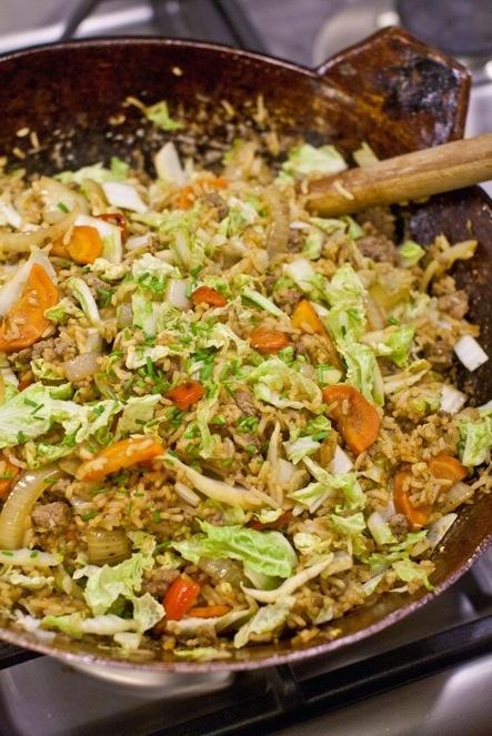 recept met chinese kool en gehakt