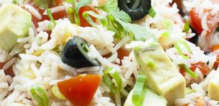 rijstsalade met avocado