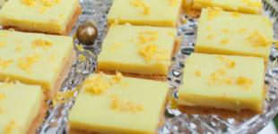 vegan glutenvrije lemon bars