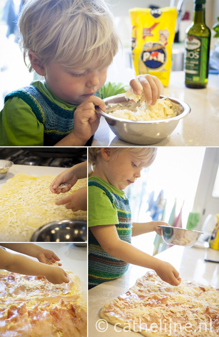 spiraalbroodjes met serranoham en pecorino