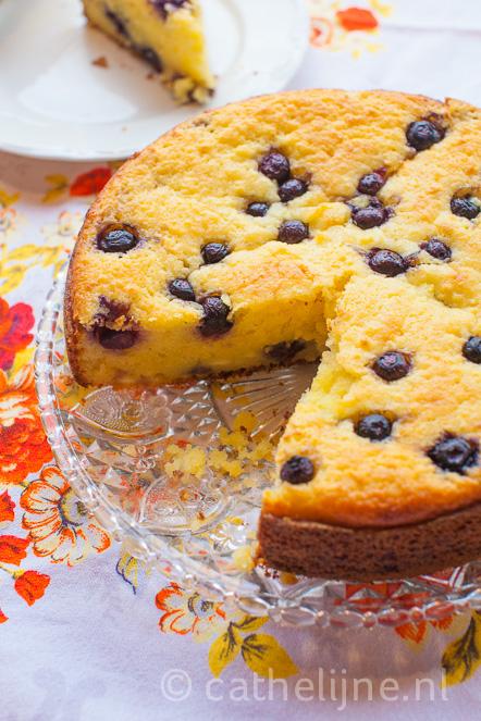 cake verse kaas limoen blauwe bes