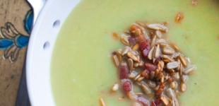 courgettesoep met mosterd