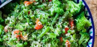 lentesalade met groene groentes